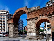 Arch of Galerius in Thessaloniki, Greece.