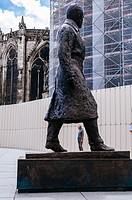 Statue of Jacques Chaban-Delmas former mayor of Bordeaux and former minister in Place Pey Berland, Bordeaux, France.