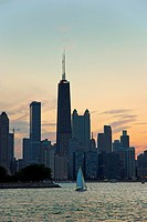Chicago skyline, view from Michigan Lake.