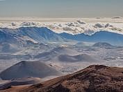 Maui Mt Haleakala Crater.