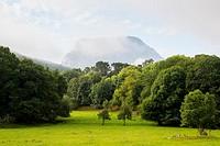 La Mortera mountain (722 meters) from Ramales de la Victoria. Cantabria. Spain. Europe.