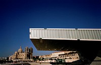 Villa Mediterranee in Marseille in Provence in Bouches du Rhone in France in Europe. Architect Stefano Boeri.