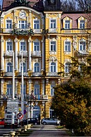 Residential architecture, Grandhotel Pacifik, Spa resort Marianske Lazne - Marienbad, West Bohemia, Czech Republic, Europe
