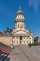 The French Cathedral (Franzoesischer Dom) is located on the Gendarmenmarkt in the Berlin district of Mitte. It was built from 1701 to 1705, Berlin, Ge...