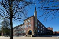 Germany, Herten, Ruhr area, Westphalia, North Rhine-Westphalia, NRW, municipal grammar school and music school, academic high school, education, schoo...