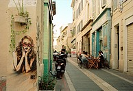 The Panier in Marseille in Provence in Bouches du Rhone in France in Europe.