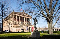 View of Alte Nationalgalerie on Museumsinsel, Museum Island, in Mitte, Berlin Germany.