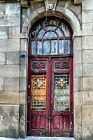 Street Gate in the historic district of Vigo, Galicia, Spain.