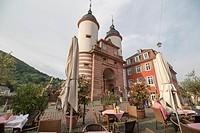 Carl Theodor Old Bridge in Heidelberg, Germany on May 12, 2016.