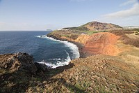 Landscape in the South of Terceira island Azores Portugal.