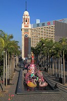 China, Hong Kong, Clock Tower, Chinese new year, decoration,.