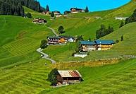 St. Antönien in the Prättigau region, Graubünden, Grisons, Switzerland.