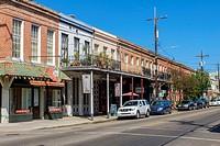 United States, Louisiana, New Orleans. Shops on Magazine Street.