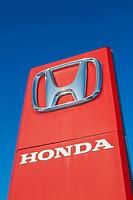 Honda signboard.