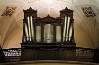 Santiago Cathedral.Pipe organ.Bilbao city.Bizkaia province.Euskadi.País Vasco.Spain