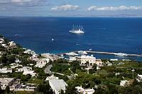 Island of Capri (Italy). Island of Capri and Gulf of Naples.
