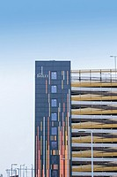The New Bailey Street multi-storey car park building, Salford, Manchester UK
