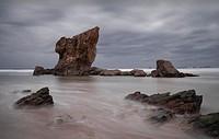 Aguilar´s beach, near of Cudillero, Asturias, Spain.