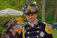 Steampunk event at Lake Tankum, Lower Saxony, Germany.