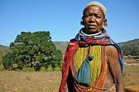 Woman belonging to the Bonda tribe ( Odisha state, India).