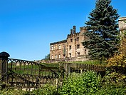 Ripley Castle 14th Century Grade I Listed Country House at Ripley North Yorkshire England.
