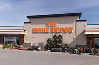The Home Depot store front on a sunny day. BC, Canada 2017.
