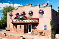 Crescent Moon Theater, plays box office movies and provides a venue for live performances in Kanab, Utah. . USA.