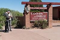Entrance to Canyon de Chelly National Monument , Arizona, USA.