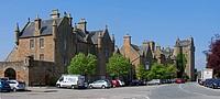 Dornoch Castle, visitor centre and jail, Sutherland, Scottish Highlands, Scotland, UK