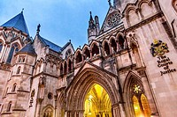 Royal Courts of Justice Old City London England.