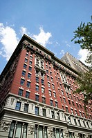 the burton building with mixed design architecture architectural details New York City USA.