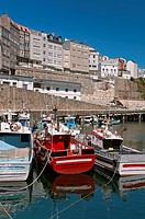 Fishing port and village, Malpica de Bergantinos, La Coruna province, Region of Galicia, Spain, Europe.