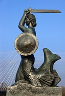 Mermaid of Warsaw - Syrenka Warszawska, symbol of Warsaw, represented on the city's coat of arms and well as in a number of statues and other imagery,...
