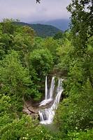 Peñaladros Waterfall, Cozuela, Burgos, Castilla y Leon, Spain, Europe
