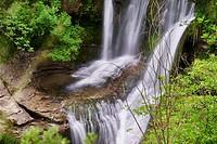 Peñaladros Waterfall, Cozuela, Burgos, Castilla y Leon, Spain, Europe.