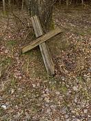 Eastern Poland. Podlasie. Podlachia region. Old cross