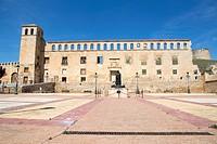 Berlanga de Duero, Soria, Castile-leon, in the Spanish meseta on June 10, 2017 Condestable de Castilla palace.