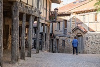 Medieval village of Calatanazor in Soria region, northern Spain.