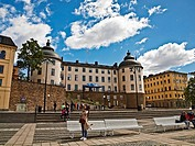 Birger Jarls torg is a public square on Riddarholmen in Gamla Stan, the old town in Stockholm, Sweden . Birger Jarl´s Tower is on the Birger Jarls tor...