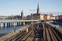Cityscape and Railway, Stockholm; Sweden.