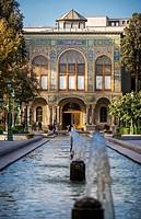 Salam (Reception) Hall - Talar-e Salam - in Golestan Palace (Palace of Flowers), former royal Qajar complex in Tehran, Iran.