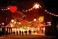 Stroget Ostergade, main shopping street, Copenhagen, Denmark, during the festive season