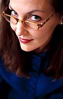 Businesswoman wearing glasses