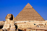 Sphinx and Pyramid. Giza. Egypt