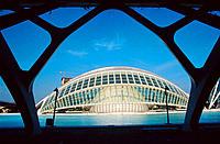 Hemisferic (planetarium and cinema). City of Arts and Sciences, by S. Calatrava. Valencia. Spain