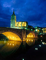 St. Anton church and bridge. Bilbao. Biscay. Basque Country. Spain