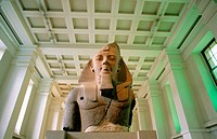 Stone bust of the egyptian Pharaoh Ramses II. British Museum. London. UK
