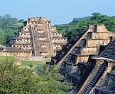 Pyramids in the old city of Tajin. Veracruz. Mexico