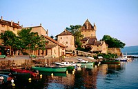 Yvoire on Lake Geneva. Haute-Savoie. France