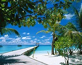Ari atoll, white sands resort. Maldives Islands. Indian Ocean